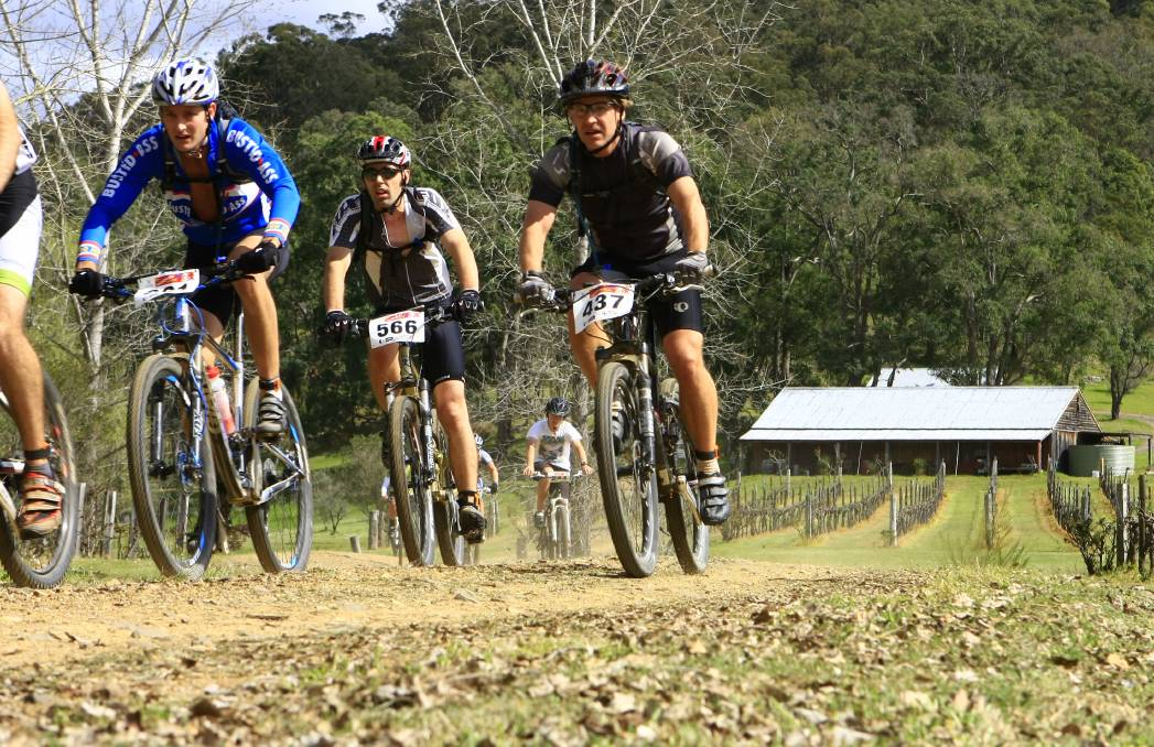 SPECTACULAR CHALLENGE: Riders head through Undercliff Winery on the annual Wollombi Wild Ride.