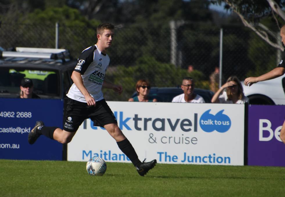 HOT FORM: Maitland Magpies young attacking midfielder James Thompson.