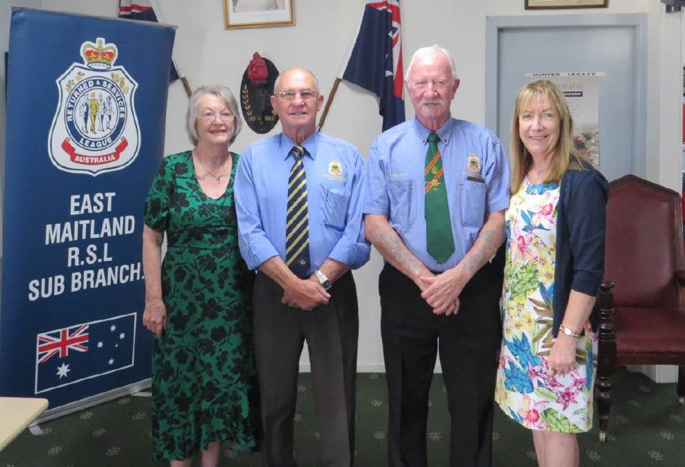LIFE MEMBERS: Neil Cromarty, second from left, and Peter Harvey with proud partners Kira and Ruth. Picture supplied.