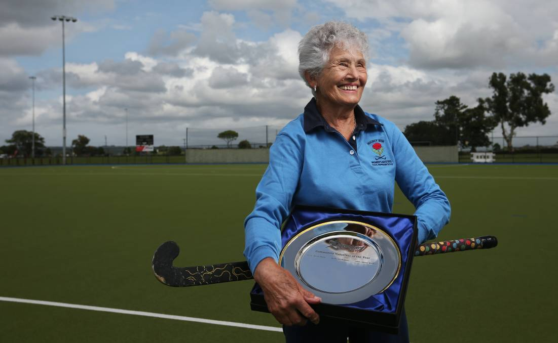 VOLUNTEER AWARD: Honey Wilcher who has been a faithful servant of Maitland Hockey for many years. Picture Simone De Peak.