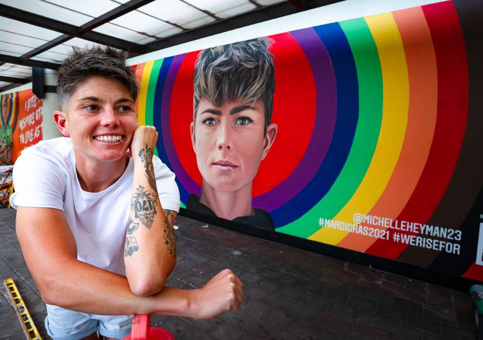 Michelle Heyman is one of the faces of the Mardi Gras Rising Heroes campaign. Picture: Elesa Kurtz