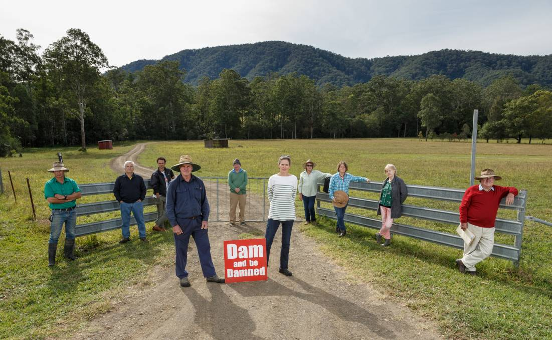 No way: Upper Chichester residents opposed to a new Lower Hunter dam. A new dam would flood most of the Chichester Valley. Picture: Max Mason-Hubers