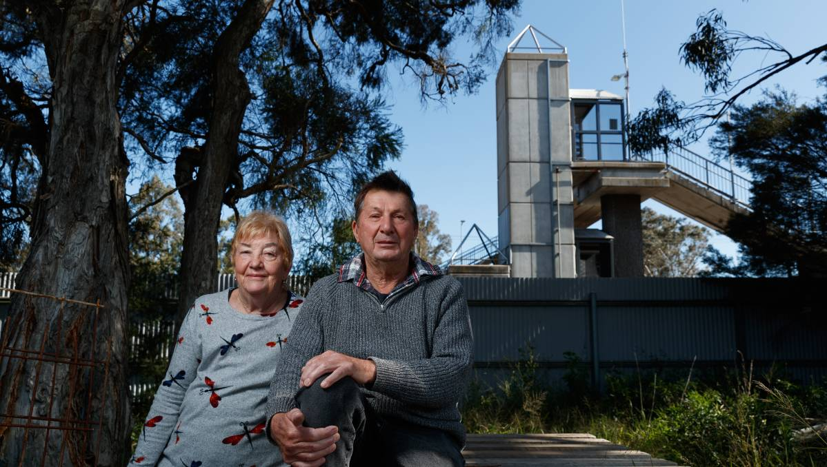 GENEROUS OFFER: Roma and David Boyle at their East Maitland property, which backs onto Metford train station. Picture: Max Mason-Hubers