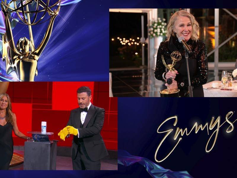 Catherine O'Hara has won an Emmy for her role in Schitt's Creek, in a Covid-safe ceremony.