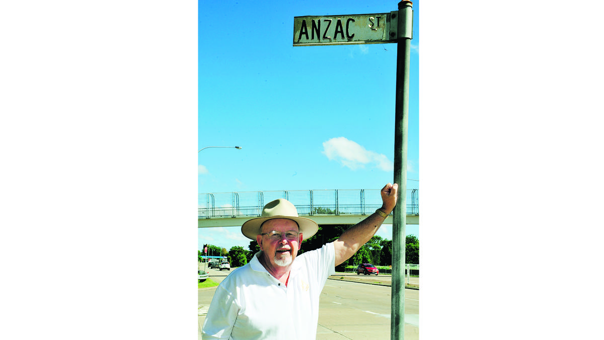 MORE LIKE IT:   Historian keven Short At Anzac Street which was originally Beckmann Street.  	Picture by CATH BOWEN