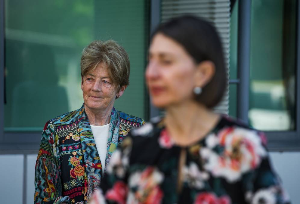 Former Parliamentary Secretary for the Hunter Catherine Cusack and NSW Premier Gladys Berejiklian in Newcastle last month. Picture: Marina Neil